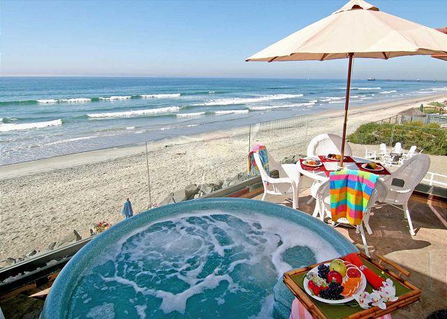 Oceanfront Condo with 4br's, 3.5ba's, rooftop deck, oceanfront spa, fireplace - Image 1 - Oceanside - rentals