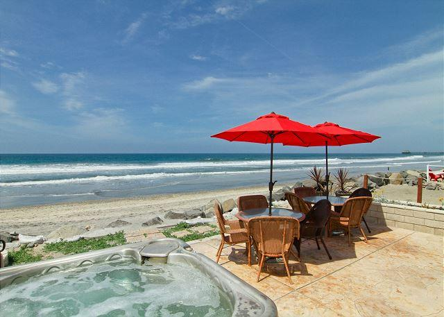 Beachfront Condo with Spa on the Sand, 4br's, 2ba's, perfect family getaway! - Image 1 - Oceanside - rentals