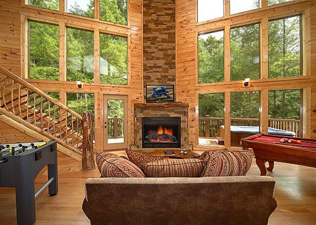 2 Bedroom Cabin with Unique Flooplan Featuring an 18 Foot Tower Rain Shower! - Image 1 - Gatlinburg - rentals