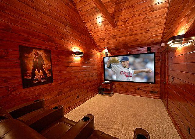 3 Master Suite Luxury Cabin with Private Home Theater Room (9 Foot Screen!) - Image 1 - Gatlinburg - rentals