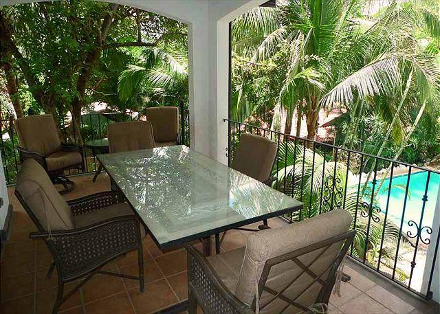 Terrace - Lovely condo- vaulted ceilings, a/c, full kitchen, private terrace, internet - Tamarindo - rentals