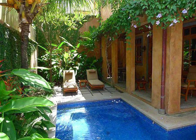 Pool and garden - Lavish vacation villa-ocean view, kitchen, balcony, gas grill, internet, a/c - Tamarindo - rentals