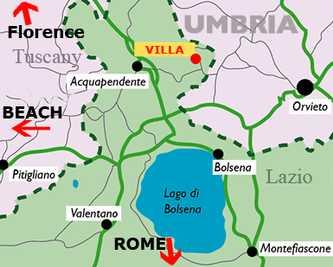 Villa Rental Walking Distance to Town of Torre Alfina  - Villa del Castello - Image 1 - Acquapendente - rentals