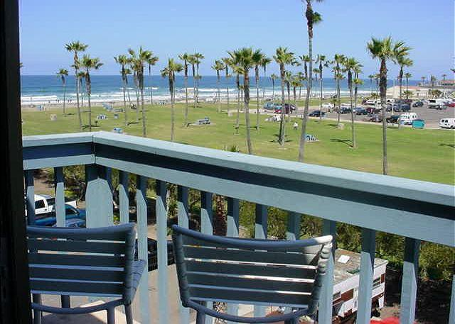 This is the view from your deck. Take in the sights and sounds of the sea. Barbeque, relax and enjoy the sunset! - South Mission Penthouse #401 - Pacific Beach - rentals