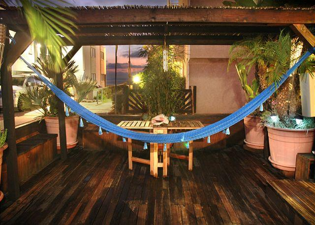 Private Deck Offers Ocean View, A Hammock, Amazing Hot Tub, Gas Grill and a Spot to Shower off the Sand! - Salem Surf Sanctuary - Pacific Beach - rentals