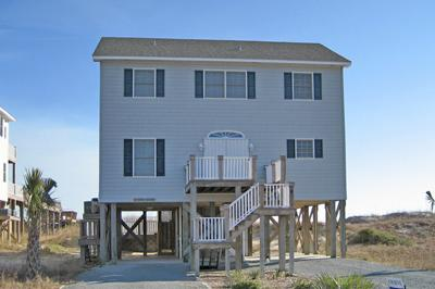 Streetside view of Breakers - 'Breakers - North Topsail Beach - rentals