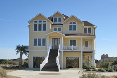 Street side view of 142 Oceanview Lane - 142 Oceanview Lane - North Topsail Beach - rentals