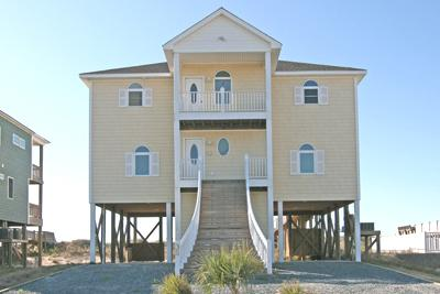 Street side view of 35 Porpoise Place - 35 Porpoise Place - North Topsail Beach - rentals