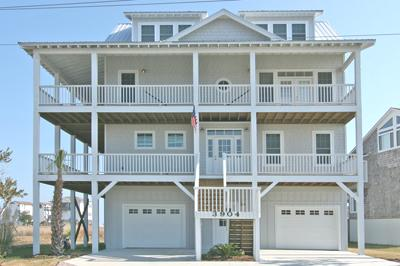 3904 River Road street side of home - 'Casa Del Sol - North Topsail Beach - rentals