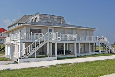Exterior view of east side of home - Marina Way 304 - North Topsail Beach - rentals