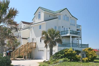 View of 1419 New River Inlet Rd from the northeast - New River Inlet Rd. 1419 - North Topsail Beach - rentals
