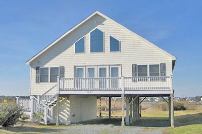 Street side view of 1737 New River Inlet Road - New River Inlet Rd. 1737 - North Topsail Beach - rentals