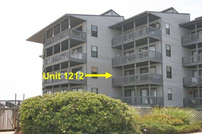 Oceanside view of Unit 1212 - Shipwatch 1212 - North Topsail Beach - rentals
