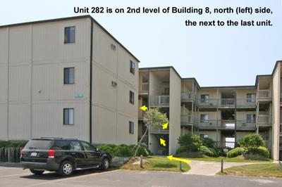Location of Unit 282 in Building 8, Topsail Reef - Topsail Reef 282 - BLD 8 - North Topsail Beach - rentals