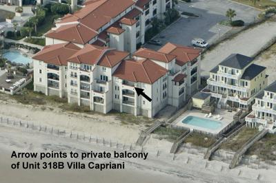 View of ocean side of Unit 318B Villa Capriani - Villa Capriani 318 B - North Topsail Beach - rentals