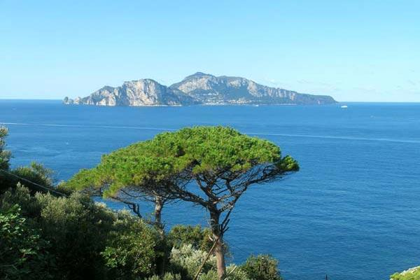 Well priced for a 5 bedroom villa with old world charm, lovely tiles throughout and amazing views of Capri BRV AZZ - Image 1 - Amalfi Coast - rentals