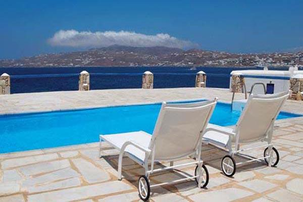 Waterfront villa, across the bay from Mykonos Town. LIV CLE - Image 1 - Mykonos - rentals