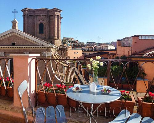 Perfect Penthouse-Spanish Steps-Terrace-View-Angel - Image 1 - Rome - rentals