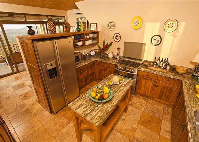 Kitchen - Elegant 6BR home- on seaside hill, tropical garden, views, infiniti pool, etc - Tamarindo - rentals