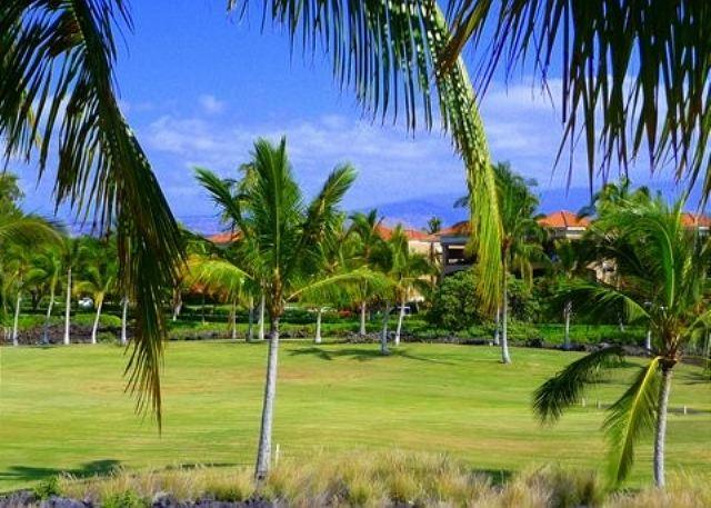 Golf Course View From Lanai - RELAXING, COMFORTABLE ISLAND HOME ON THE GOLF COURSE-WCV3303 - Waikoloa - rentals