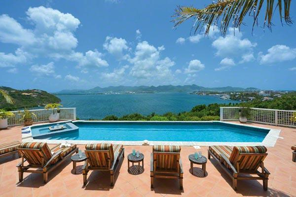 Spectacular Simpson Bay, Marigot and Ocean views from all parts of this villa. C TRG - Image 1 - Saint Martin-Sint Maarten - rentals