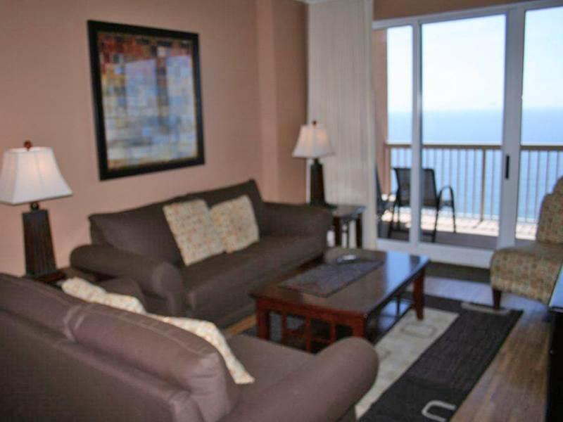 Gulf Front View from Private Balcony at Sunrise Beach Condos - Image 1 - Panama City Beach - rentals