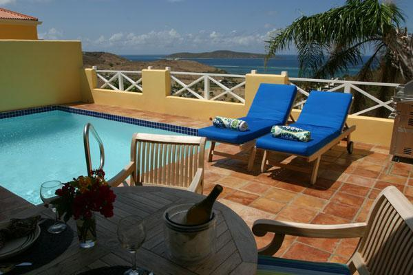 Relax on your private deck with pool and views. - A Perfect Getaway...Lime Tree - Christiansted - rentals