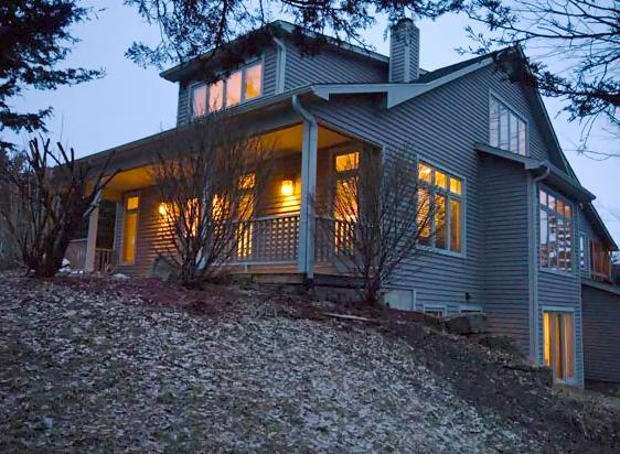 Early Morning View of Home from Clearing - A Charming Galena Vacation Home Rental-4BR to 6BR - Galena - rentals