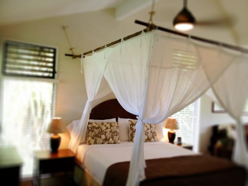 King bed with bamboo framed mosquito netting - The Aloha Loft-Tropical Comfort @Affordable prices - Princeville - rentals