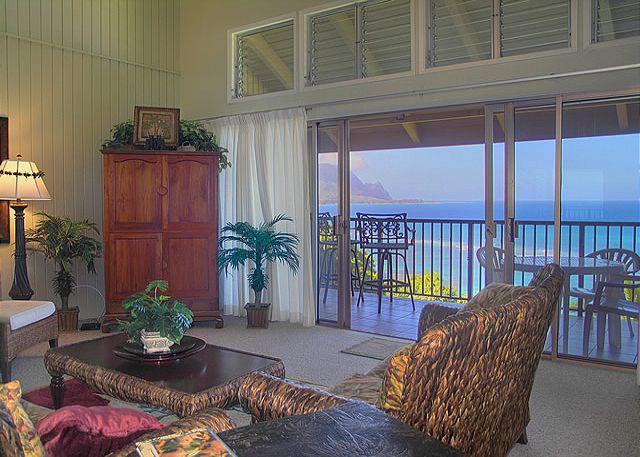 Pali Ke Kua 202: Spectacular oceanfront and Bali Hai views, premium interior! - Image 1 - Princeville - rentals