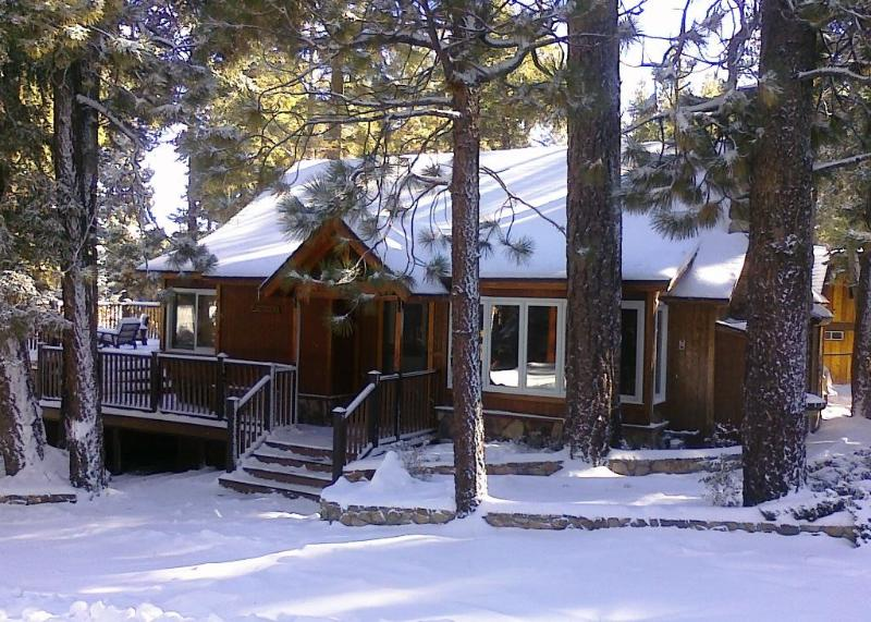Plenty of parking on level 7500 square foot lot. - Pine Rock Cabin, Pool Table, Walk to Slopes/Golf - Moonridge - rentals