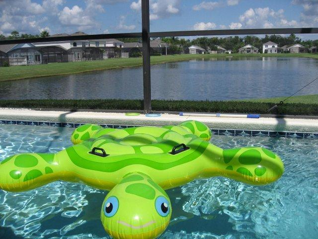 Pool with lake view - Stunning Lake Berkley Villa with a Pool - Kissimmee - rentals