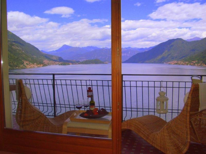 Balcony View - Stunning property with 180 deg  views of Lake Como - Argegno - rentals