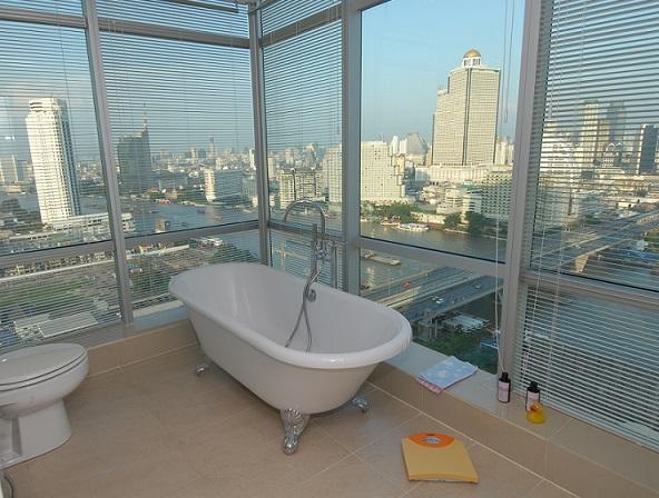 Bathroom - TheRiverSideBangkok - Orchid - Golden river view - Bangkok - rentals