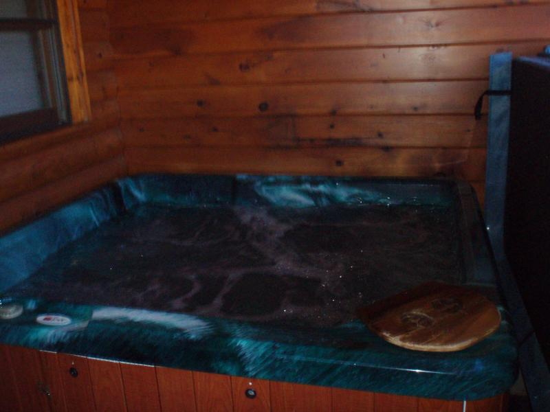 Easy lift cover on hot tub - Got It All Yall Cabin, hot tub,Mtn Views,gas grill - Pigeon Forge - rentals