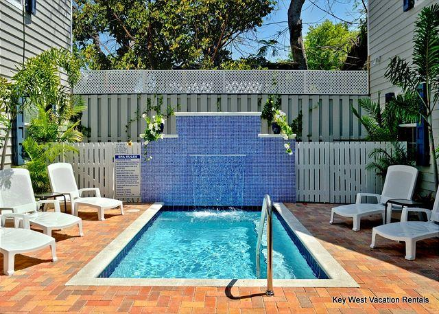"Heated Community Dipping Pool With Waterfall - ""LITTLE HAVANA SUITE"" Beautiful Home w/ Shared Pool. 1 Block to Duval St! - Key West - rentals"