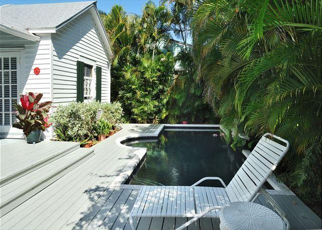 """Private heated pool and deck area - """"CASA SERENDIPITY"""" - World Class Comfort in Lush, Tropical Paradise - Key West - rentals"""
