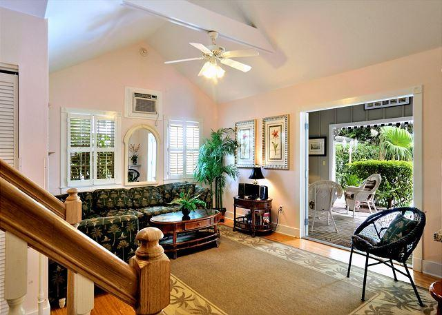 "Spacious Living Area With Queen Sleeper Sofa - ""KEY WEST HIDEAWAY"" Sleeps Up To 10 - Private Patio - Half Block To Duval! - Key West - rentals"