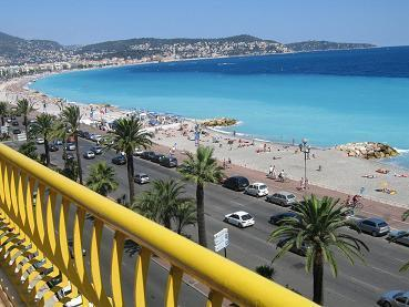 view from terrace on 5 th floor - APARTMENT WITH BEST VIEW ON PROMENADE  DES ANGLAIS - Nice - rentals