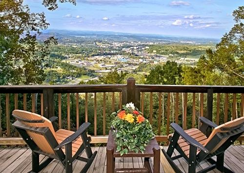 View from Deck - Daytime - EAGLE'S VIEW! Amazing 100 Mile Mountain/City View - Sevierville - rentals