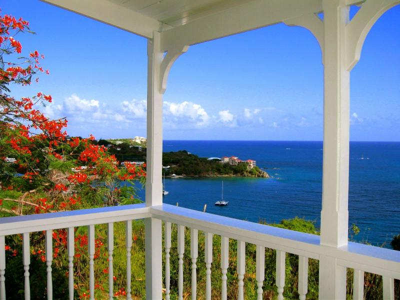 Your private balcony overlooking the snorkeling reef at Secret Harbor - Stay Local.. Stay Stonehouse...Waterfront View.. - Saint Thomas - rentals