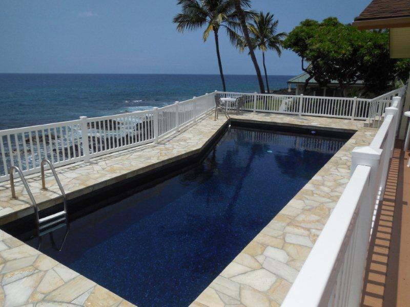 Private Deep Sparkling Pool - PRIVATE OCEANFRONT HOME ON 1/3 ACRE WITH POOL - Kailua-Kona - rentals
