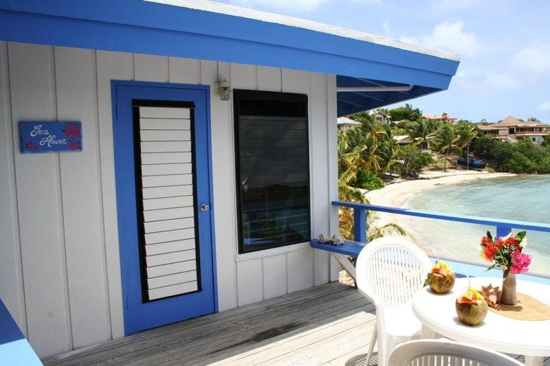 Gorgeous cottage with deck on beach - Coffee & Tea Absolute Beachfront Cottages - Virgin Gorda - rentals