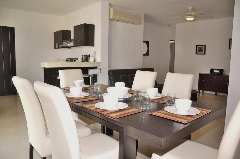 "Pelicanos Vacation Rental Dining Area - Poolside 2 bedroom in tranquil complex ""P211"" - Playa del Carmen - rentals"