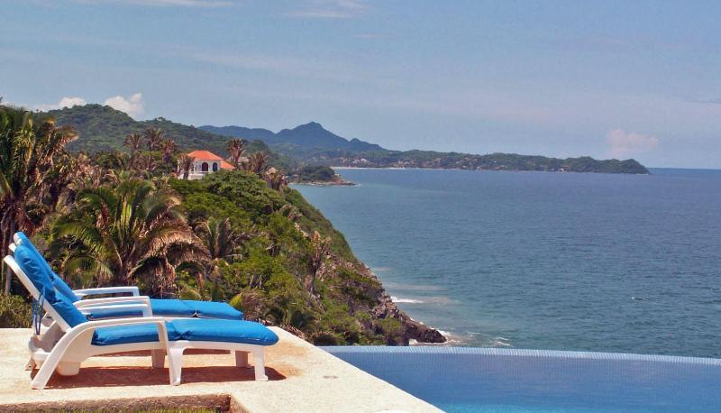 Casa Melissa - heated infinity pool, stunning views - Casa Melissa - Oceanfront fab views, pool,  tennis - San Pancho - rentals