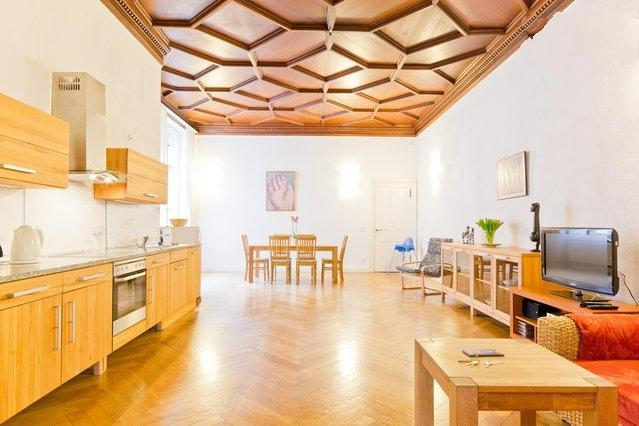 11c palatial living room 538 sq. feet (50 sqm) with 13 feet (4 meter) high mahogany ceiling - Multi-Award Winner and Downtown Landmark - Berlin - rentals