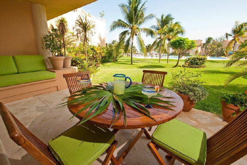 Casa Alegria private terrace - Casa Alegria Villas del Mar E-102 - Puerto Aventuras - rentals