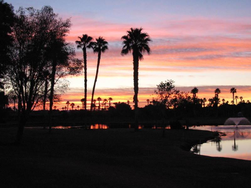 View of Sunrise from Patio - Your Oasis Awaits You - Property ID 77707 N - Palm Desert - rentals