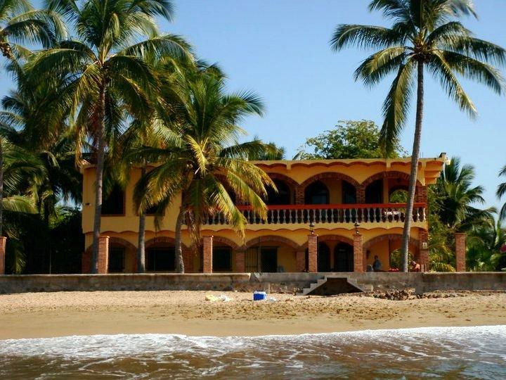 Casa Fortuna from the surf - Luxury   Beachfront home with private heated pool! - Rincon de Guayabitos - rentals