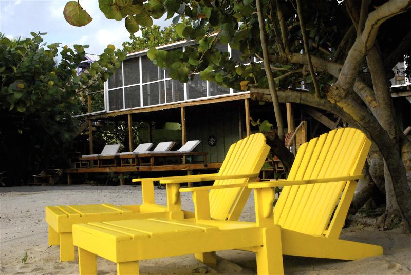 family friendly or perfect for 2 lovebirds visiting Placencia - Seagrape Escape:Bright,breezy BEACHhouse w/ Wifi! - Placencia - rentals